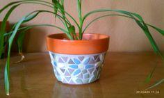 Pote de flor mosaico por lioness62 en Etsy