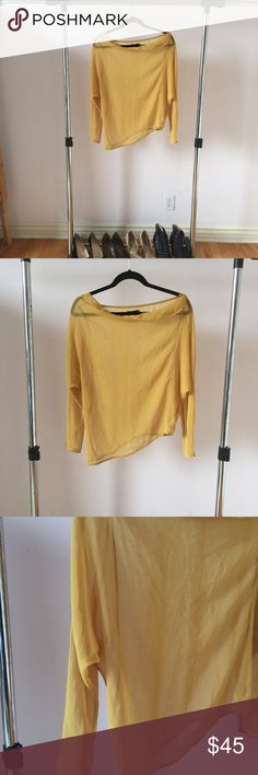MoMA Mustard Silk Top Brand: MoMA Condition: Never worn  Size: 38 Extra Details: Purchased this shirt from the Museum of Modern Art exhibit. Made by an Italian designer who had an art installation at the museum. Moma Tops Blouses