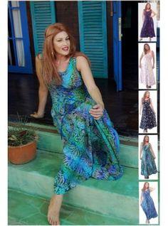 PRE-ORDER - Maxi Lacings Smocking Slenderizing Sleeveless Batik Boho Dress