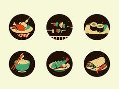 Food Icons (wip) by Szende Brassai / Adline