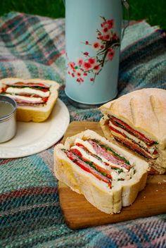 Stuffed Picnic Loaf for National Picnic Week