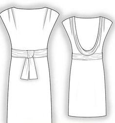 Ready-pattern dress with open back - styletowoman.ru