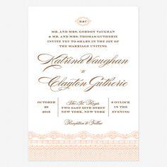 Lace Couture Wedding Invitations www.lovevsdesign.com