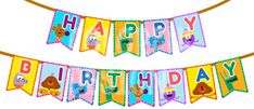Hey Duggee Digital Happy Birthday Flag banner by CSRdiseno Birthday Flags, Happy Birthday Bunting, 3rd Birthday, Birthday Party Themes, Birthday Invitations, Birthday Ideas, Flag Banners, Kids Cards
