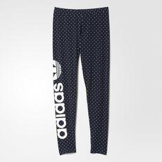 adidas Dots Allover Print Trefoil Leggings - Multicolor | adidas New Zealand