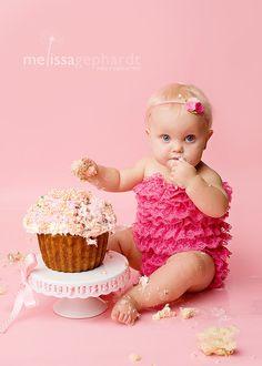 Baby Headband.  Felt Flower Headband in Pink. Newborn Headband - Toddler Headband - Girls - Cake Smash Props. $6.50, via Etsy.