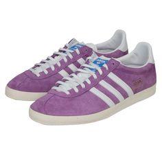 adidas purple suede gazelles