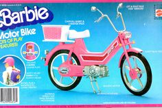 Barbie - Barbie Motor Bike, 1983 (heh, we didn't really like playing with it, it was hard to place the dolls on it without wrecking anything)