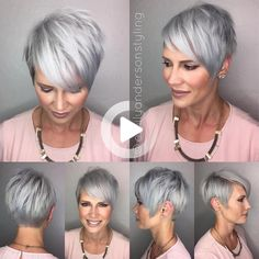 Are you a woman 50+ in search of a look that fits this new decade in your life? We've gathered all the best hairstyles for women over 50, check out! #simplehairstyles Undercut Hairstyles, Cool Hairstyles, Gorgeous Hairstyles, Grey Hairstyle, Hairstyle Ideas, Party Hairstyles, Wedding Hairstyles, Shaggy Hairstyles, Short Hair Cuts
