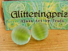 Lampwork Beads Glass Green and Blue Glow Ness Cove UK by shineon2, £4.50