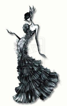 fashion model sketches - Google Search