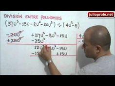 División entre polinomios: Julio Rios explica cómo efectuar la división entre dos polinomios algebraicos