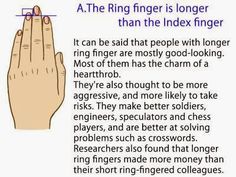 This Is What It Means When Your Ring Finger Is Longer Than Your Index Finger. Woah.