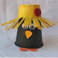 Paper Cup Crow:  This is a cute little crow that would be fun to make after reading an autumn book featuring a crow.  THe preschool children could creatively decide what to embellish the hat with.  It would be interesting to see what they could come up with.  Making decisions is DAP.