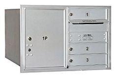 4C Horizontal Mailbox - 5 Door High Unit (20 Inches) - Double Column - 3 MB1 Doors / 1 PL5 - Aluminum - Rear Loading - USPS Access by Salsbury Industries. $323.52. 4C Horizontal Mailbox - 5 Door High Unit (20 Inches) - Double Column - 3 MB1 Doors / 1 PL5 - Aluminum - Rear Loading - USPS Access - Salsbury Industries - 820996411792