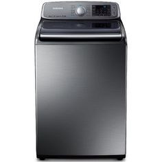 Samsung ft High Efficiency Top-Load Washer (Platinum) at Lowe's. Give your laundry a taste of luxury with the help of this Samsung washer. AquaJet™ Delicate harnesses the power of high-impact water jets to gently Washer And Dryer, Electronic Appliances, Home Appliances, Samsung Washer, Doing Laundry, Laundry Room, Laundry Baskets, Home Interior Design