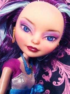 Custom Ever After High Madeline Hatter OOAK Doll Repainted & Dressed by fantasy-dolls-by-donna-anne