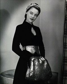 Sequin Muff!!! 1947. Photo by Nina Leen.