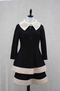Vintage black & white frock and coat on Etsy.