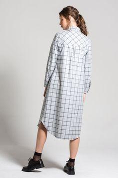 fdbb402b5e668f Plaid Shirt Dress. Plaid Shirt Dress 1x Navy Elastic Waist Panel Pants ...