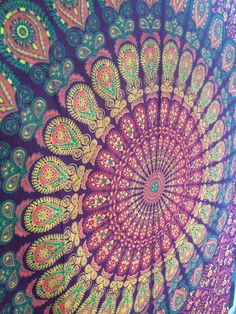 Handmade Hippie Mandala Tapestry Indian by tapestrymandala