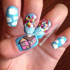 """The sky is the limit with this breezy Disney-inspired """"Up"""" mani —  plus, your kids will be super impressed."""