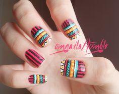 #tribal #nail #design