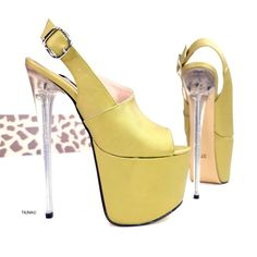 Hot Heels, Peep Toe Heels, High Platform Shoes, Metallic High Heels, Transparent Heels, Thick Heels, Leather Heels, Vegan Leather, Ankle Strap