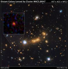 Astronomers Spot Most Distant Known Galaxy | Image credit: NASA/ESA/STScI/CLASH (#spaceimages #nasa #esa #astronomy)