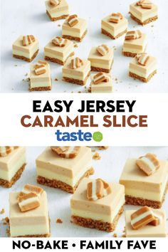 amazing cakes A delicious no-bake dessert that combines three of our favourite things: Jersey Caramels, Butternut Snap biscuits and cheesecake. Yummy Treats, Delicious Desserts, Sweet Treats, Yummy Food, Sweet Recipes, Cake Recipes, Dessert Recipes, Banana Recipes, Cadbury Recipes