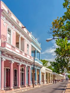 Traditional and old houses in Paseo el Prado in Cienfuegos, Cuba | 16 Reasons why Cuba is so Loved by Tourists although is still under Communist Regime