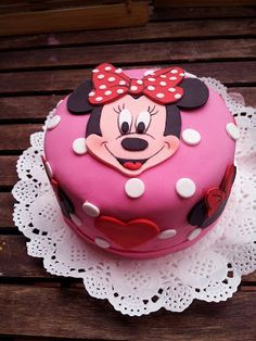 Pastel Minnie Baby Minnie Mouse Cake, Mini Mouse Cake, Mickey Mouse Cupcakes, Mickey Cakes, Cupcakes Kids, Pastel Mickey, 3rd Birthday Cakes, Mickey Birthday, Theme Mickey