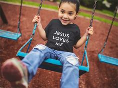 Jesus Love Me Tee Shirt for Kids   Exclusively from Mercy Wear Kids this shirt is made for the little child in your life. $15 on Amazon.