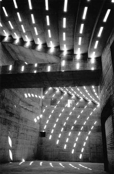 Sydney Opera House 1962 - photo by David Moore. It's not a drawing but gives you some ideas about how to portray light :)