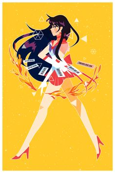 Sailor Scout Print Set via Alu's Store. Click on the image to see more!