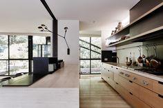 Robin Boyd's Bridge House in Melbourne renovated by Stephen Jolson | kitchen architecture
