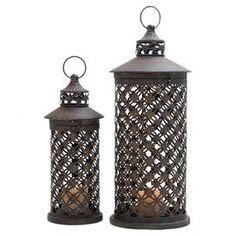 Pierced Metal Candle Lanterns