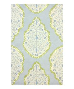 Love this Baby Blue Eduardo Wool Rug by nuLOOM on #zulily! #zulilyfinds