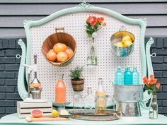 Host a farmer's market-inspired spring porch party with seasonal appetizers, aromatic cocktails and vintage decorating ideas from HGTV.com.
