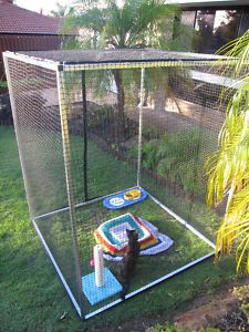 diy cat cage | CAT Enclosure LOW DIY Portable CAT NET RUN BY Petpadz | eBay