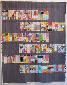 Just Sew by Margaret Glendening - scrap vortex style quilt Scrappy Quilt Patterns, Scrappy Quilts, Easy Quilts, Mini Quilts, Backing A Quilt, Strip Quilts, Patch Quilt, Quilt Blocks, Crumb Quilt