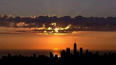 Sunset over Chicago.