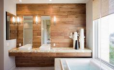 2015 bathroom trends contemporary bathroom design natural materials wood wall
