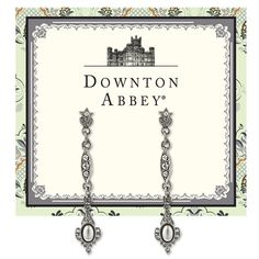 Downton Abbey® Silver-Tone Simulated Pearl and Crystal Linear Earrings
