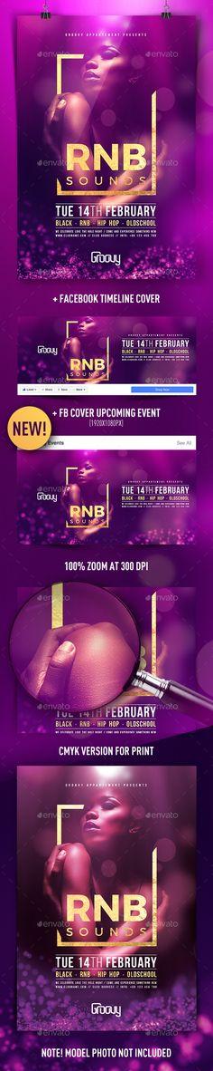 RNB Sounds Flyer Template PSD