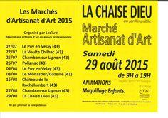 Marché d'artisanat d'art - dimanche 29 août 2015 - La Chaise-Dieu