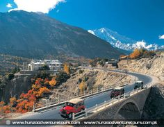 PAKISTAN, nice view and beauty of Garalth bridge at Rakaposhi area, Hunza valley, Gilgit Baltistan, Pakistan Karakoram Highway, Hunza Valley, Gilgit Baltistan, Nature View, Heaven On Earth, Nice View, Places To See, Natural Beauty, Maine