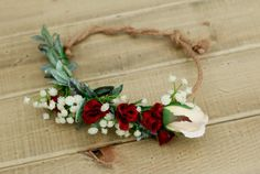 Silk Burgundy and Marsala Fall Flower Crown - Adjustable