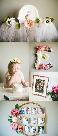 Ella's Floral First Birthday Party