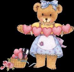Cute Teddy Bear with Hearts cute heart animated bear gif teddy bear